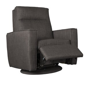 Welted Manual Swivel Recliner by Fornirama