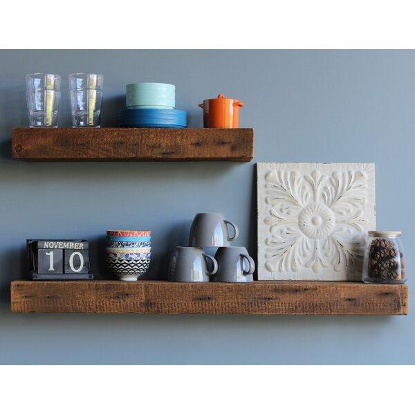 Corda Reclaimed Barn Wood Floating Wall Shelf (Set of 2) by Williston Forge