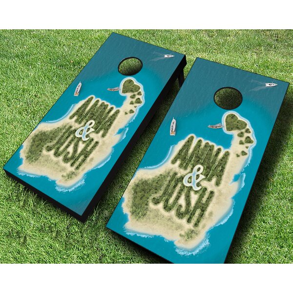 Paradise to Share Cornhole Set by AJJ Cornhole