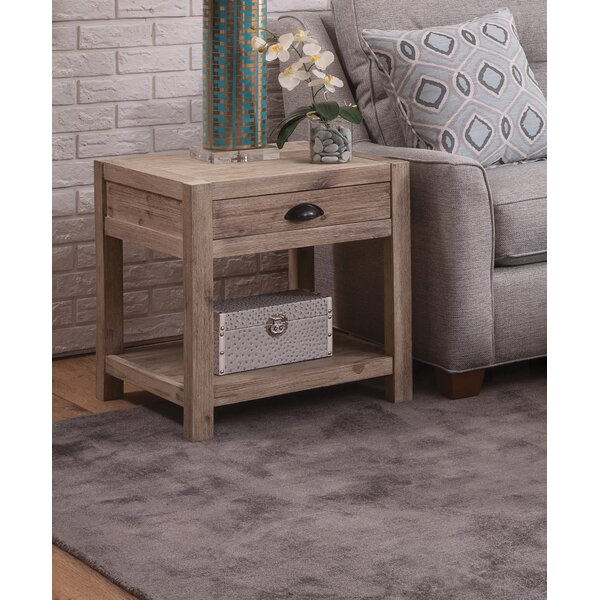 Herrington Modern End Table by Rosecliff Heights