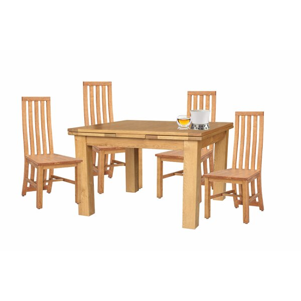 Arreola 5 Piece Extendable Solid Wood Dining Set By Loon Peak