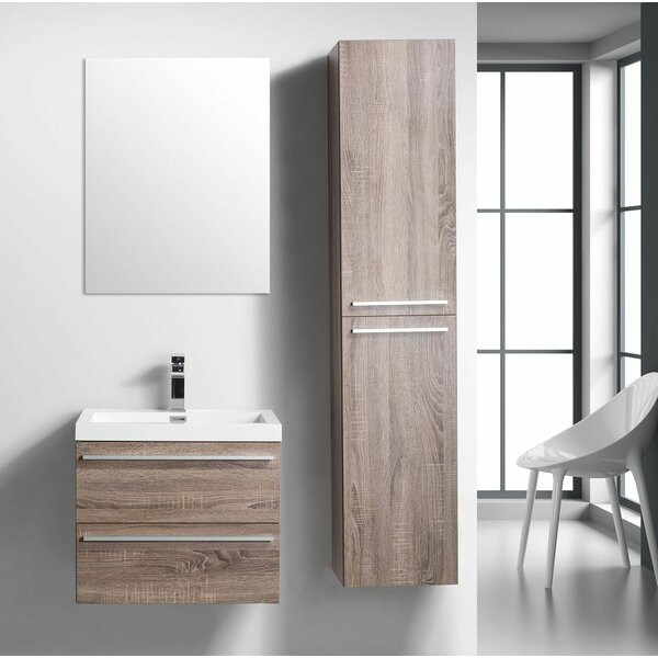 Bolivia 24 Wall-Mounted Single Bathroom Vanity by Foundry Select