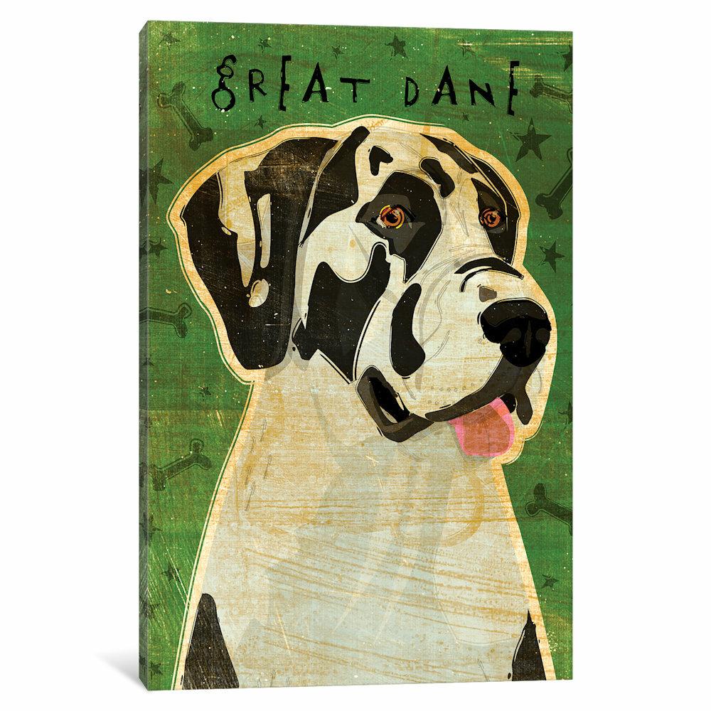 English Print Great Dane Dog Art Picture