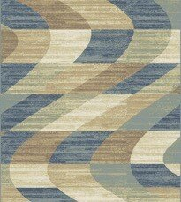 Stone Blue/Beige Area Rug by Ebern Designs