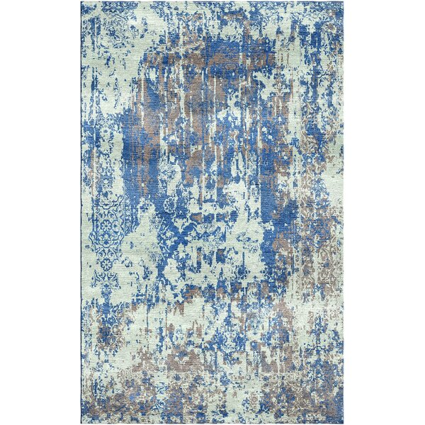 Aliza Handloom Blue/Sage Area Rug by Bungalow Rose