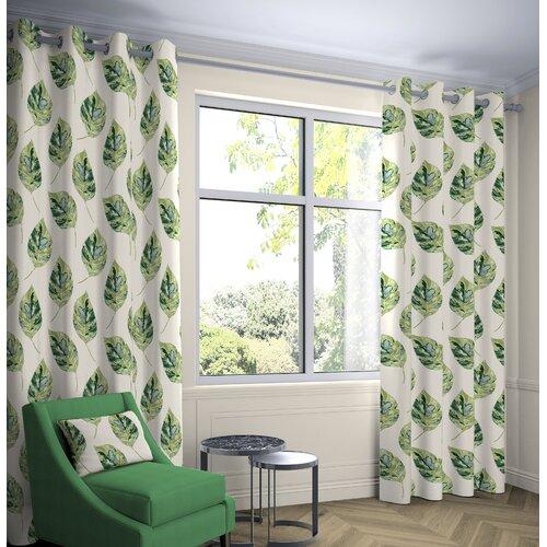 Boler Leaf Tailored Eyelet Thermal Curtains Ebern Designs Co