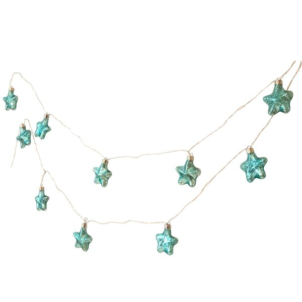 Seas and Greetings Mercury Glass Starfish String Light by Beachcrest Home