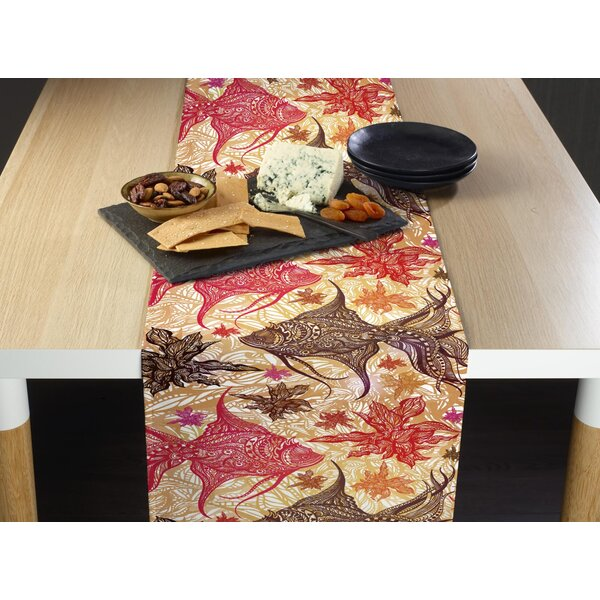 Elis Paisley Fish Milliken Signature Table Runner by Highland Dunes