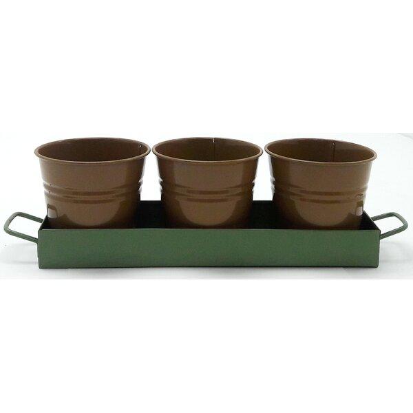 4-Piece Metal Pot Planter by Houston International