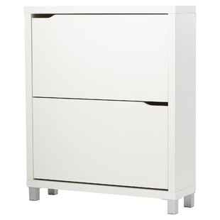Muoi 12 Pair White Shoe Storage Cabinet