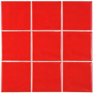 Contour Square 3 75 X Ceramic Field Tile In Red