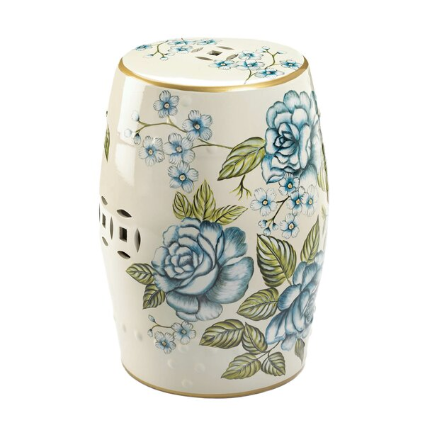 Kwiete Antique Floral Garden Stool by Bloomsbury Market Bloomsbury Market