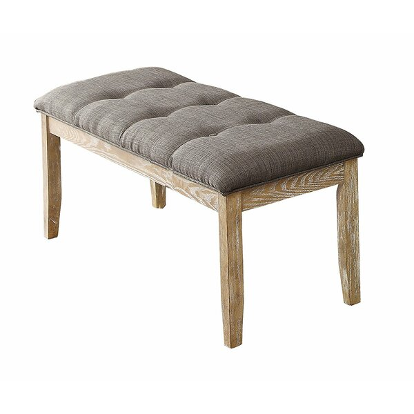Susana Wood and Fabric Bench by Gracie Oaks