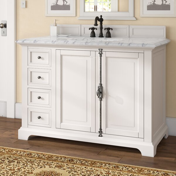 Ogallala Traditional 48 Single Cottage White Bathroom Vanity Set by Greyleigh