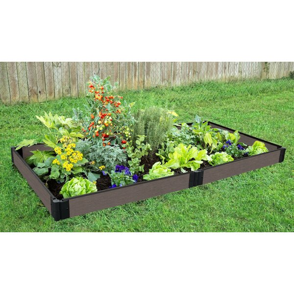 York Weathered Wood 4 ft x 8 ft Raised Garden by Symple Stuff