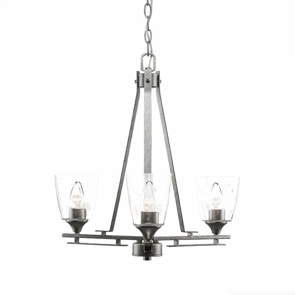 Sinclaire 3-Light Shaded Chandelier by 17 Stories