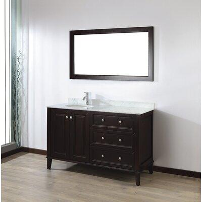"Bathroom Vanity Sets bauhaus bath milly 55"" single bathroom vanity set with mirror"