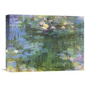 'Waterlilies' by Claude Monet Painting Print on Wrapped Canvas by Global Gallery