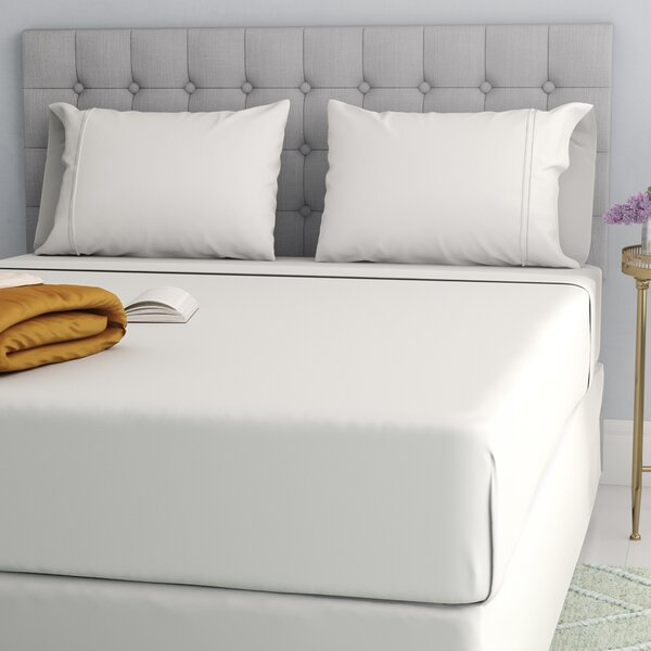 Cavet Sateen Wrinkle Resistant 4 Piece 1200 Thread Count Sheet Set by The Twillery Co.