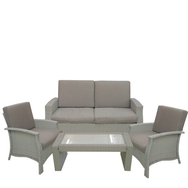 Fiorillo 4 Piece Sofa Set with Cushions by Brayden Studio