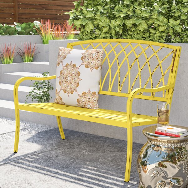 Heslin Steel Park Bench by Mistana