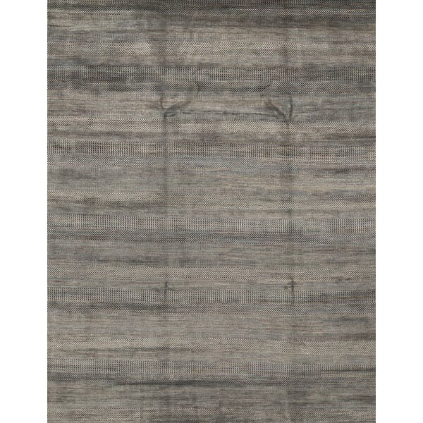 Hand-Knotted 9' x 12.2' Dark Blue/Black Area Rug
