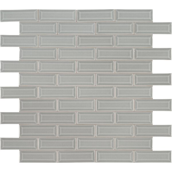 Morning Fog 2 x 6 Beveled Glass Mosaic Tile in Gray by MSI