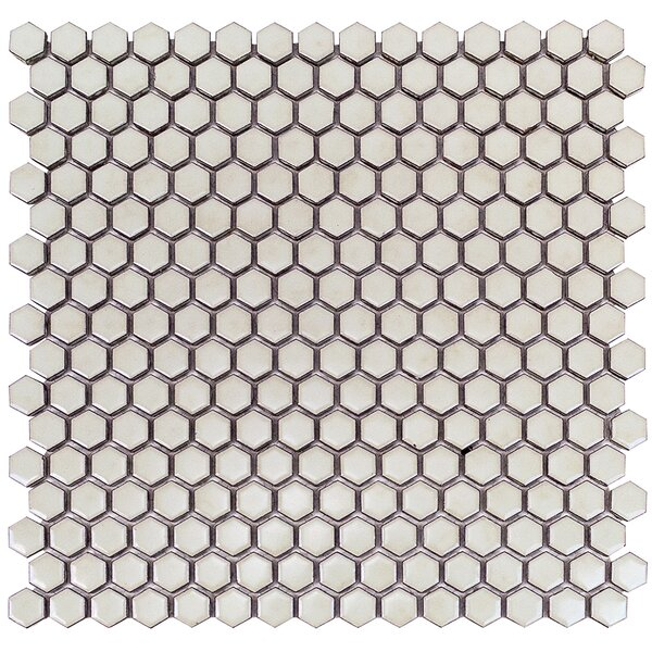 Bliss 0.6 x 0.6 Ceramic Mosaic Tile in Wheat Grass by Splashback Tile