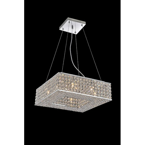 Beckley 8 - Light Unique / Statement Rectangle / Square Chandelier By House Of Hampton
