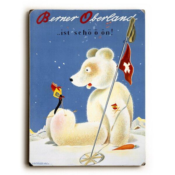 Swiss Berner Oberland Snow Ski Vintage Advertisement by Artehouse LLC