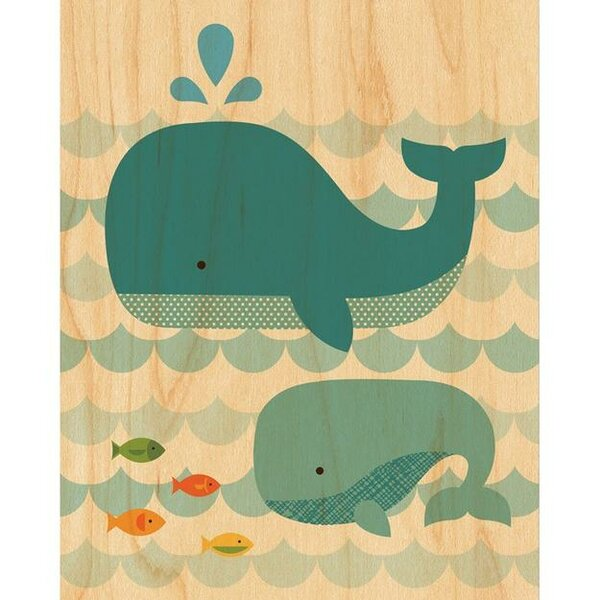 Whale Baby Decorative Plaque by Petit Collage