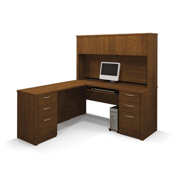 Karyn L-Shape Executive Desk with Hutch by Latitude Run