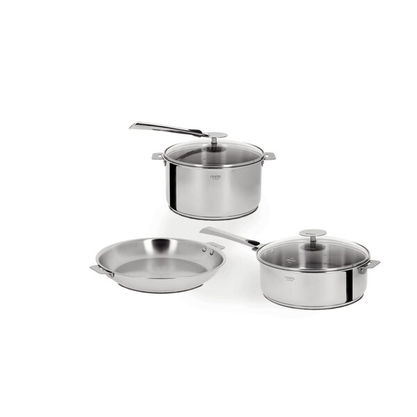 Casteline 7-piece Stainless Steel Cookware Set by Cristel