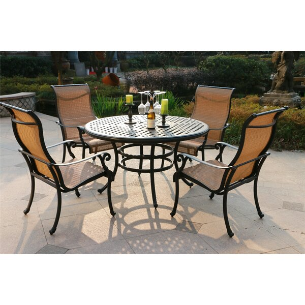Bakker Aluminum 5 Piece Dining Set by Canora Grey