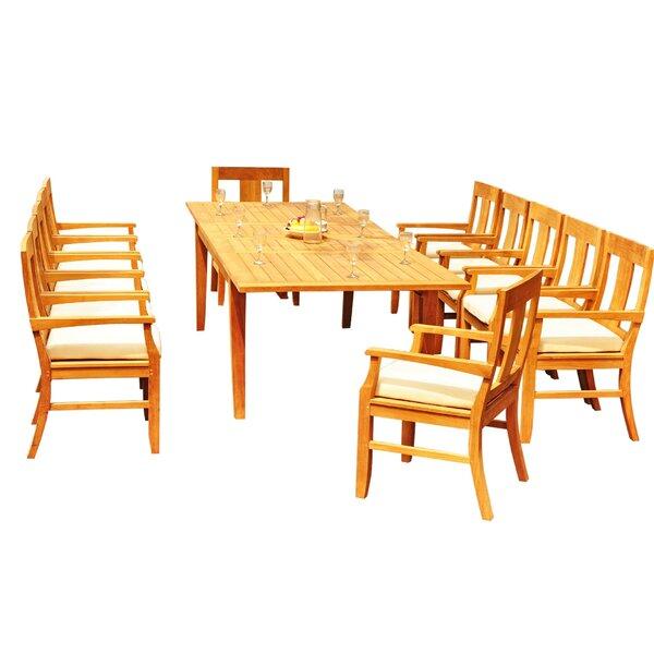 Lagunitas 13 Piece Teak Dining Set by Rosecliff Heights