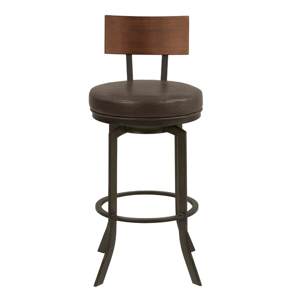 Justina 26 Swivel Bar Stool by 17 Stories
