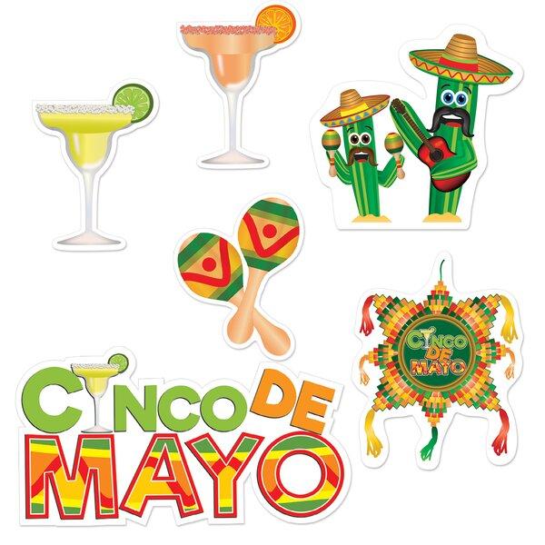 6 piece Cinco De Mayo Standup Set (Set of 3) by The Beistle Company