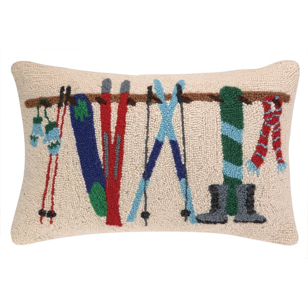 Winter Rack Hook Wool Throw Pillow by Birch Lane™