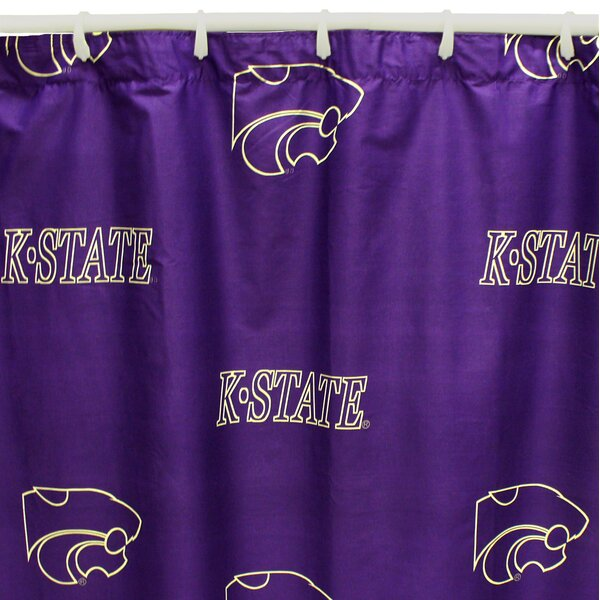 NCAA Kansas State Cotton Printed Shower Curtain by College Covers