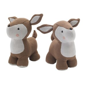 Sparrow Knit Deer Friends Book End (Set of 2)
