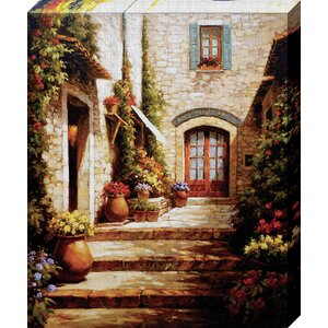 'Sun in the Entryway' Painting Print on Wrapped Canvas by Fleur De Lis Living