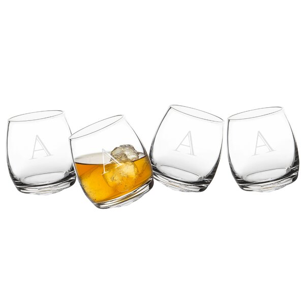 Winton Personalized Tipsy 7 oz. Old Fashioned Glass (Set of 4) by Mint Pantry