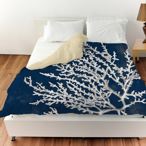 Coastal Coral Duvet Cover by Manual Woodworkers & Weavers