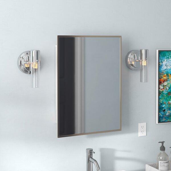 Kemp Recessed Framed Medicine Cabinet with 3 Adjustable Shelves