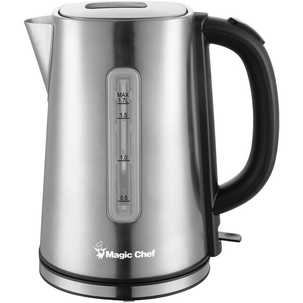 1.8 Qt. Stainless Steel Electric Tea Kettle by Magic Chef