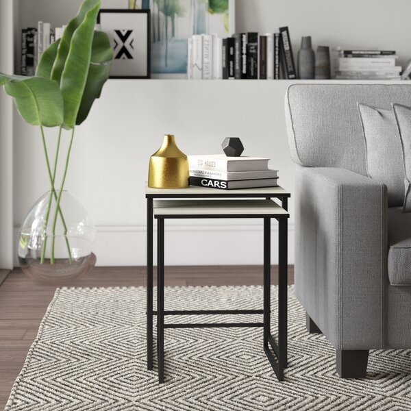Review Caddell 2 Piece Sled Nesting Tables