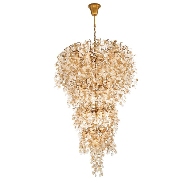 Barbagallo 33 - Light Unique / Statement Tiered Chandelier by Wrought Studio Wrought Studio