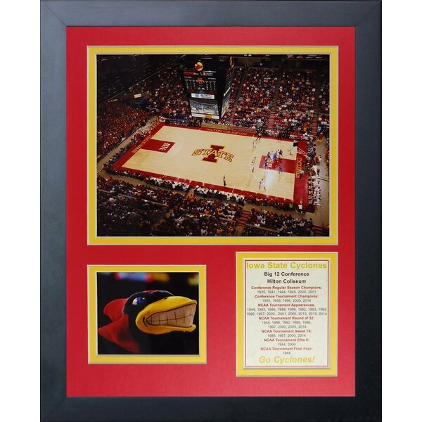 Iowa State University Hilton Coliseum Framed Photographic Print by Legends Never Die