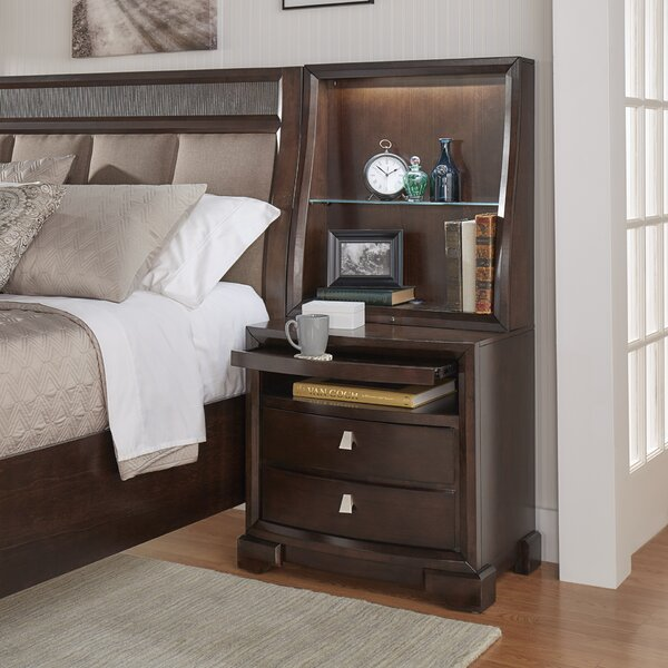 Noriega 2 Drawers Nightstand by Alcott Hill