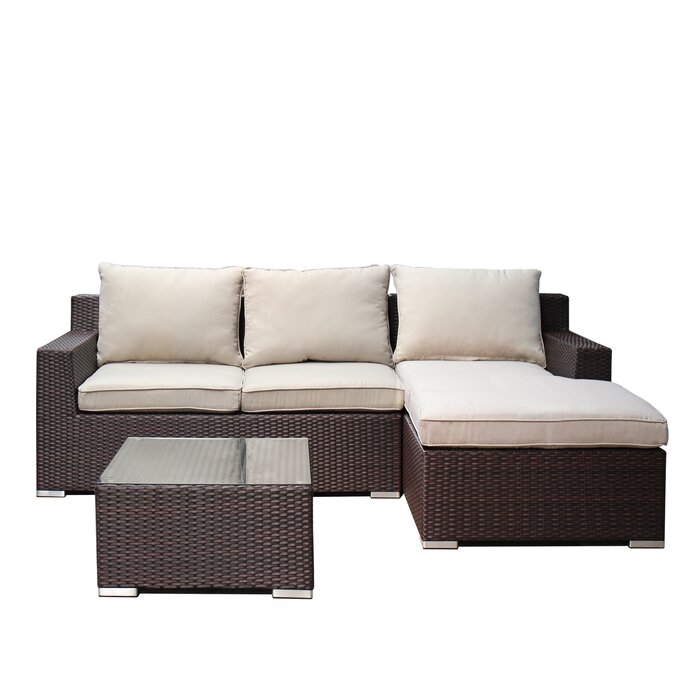 Awe Inspiring Ebern Designs Hegg 3 Piece Rattan Sofa Set With Cushions Ncnpc Chair Design For Home Ncnpcorg